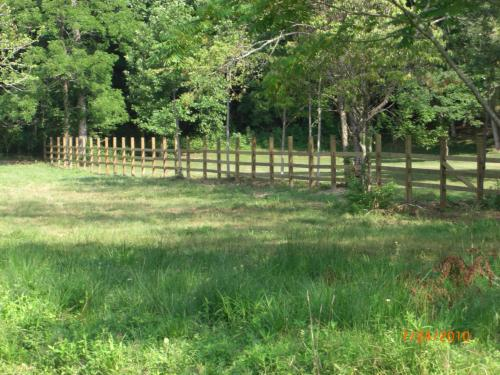 Northern boundary fence