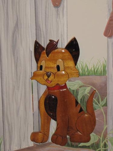 Wooden cat...