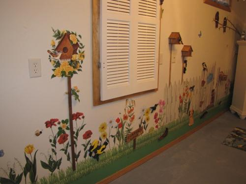 Sewing/ironing room wall