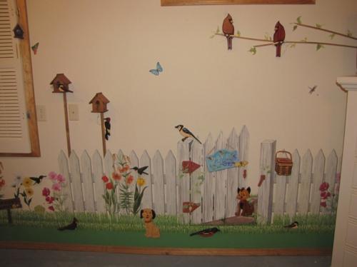 Sewing/ironing room wall